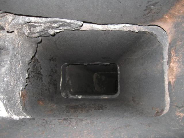 Liner Damage in Chimney On Boise Idaho Home Inspection